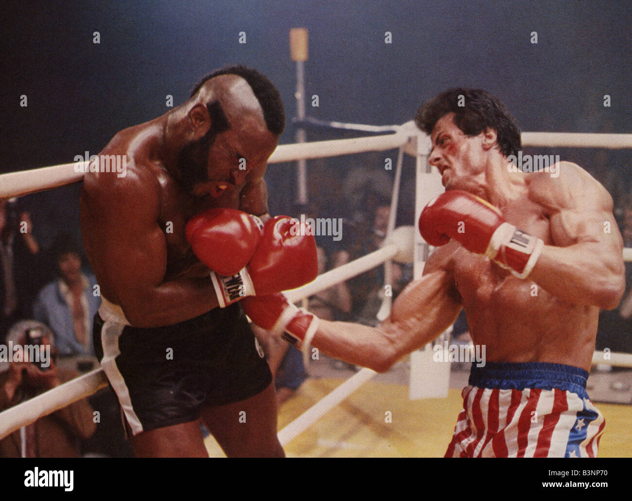 ROCKY III -  1982 UA film with Sylvester Stallone - Stock Image