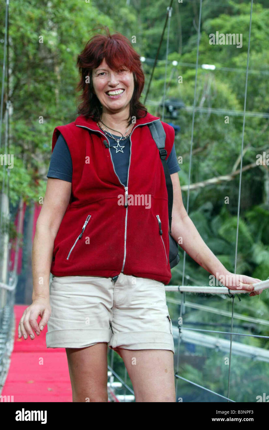 Im a celebrity get me out of here December 2004 JANET STREET PORTER LEAVING THE JUNGLE - Stock Image
