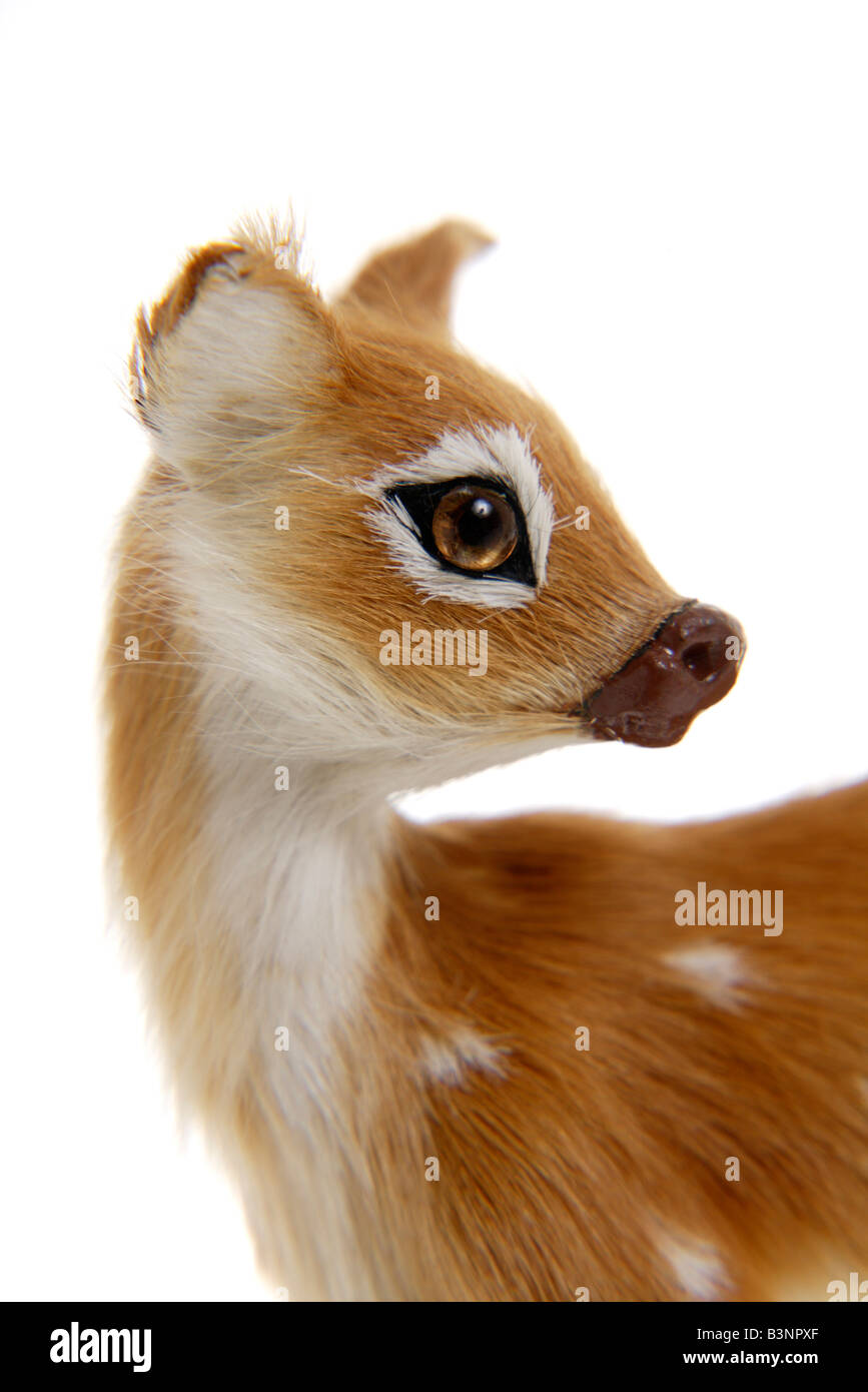 Christmas decoration, Fawn figurine, close up - Stock Image