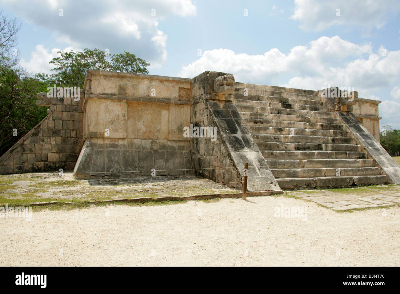 The Platform of Venus, Chichen Itza Archaeological Site, Chichen Itza, Yucatan, Mexico Stock Photo