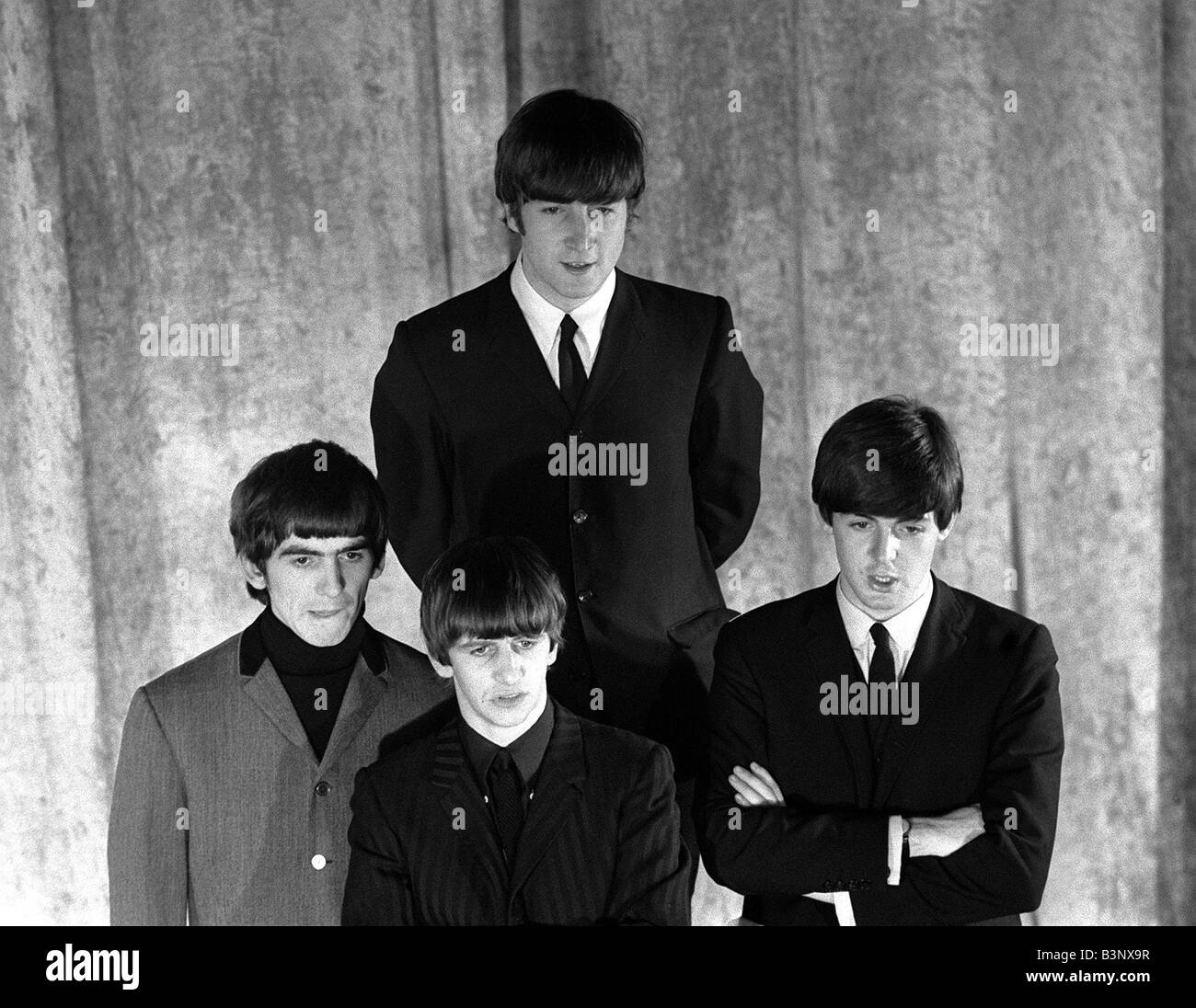 The Beatles February 1964 John Lennon Paul McCartney Ringo Starr George Harrison In New York During A Photo Shoot