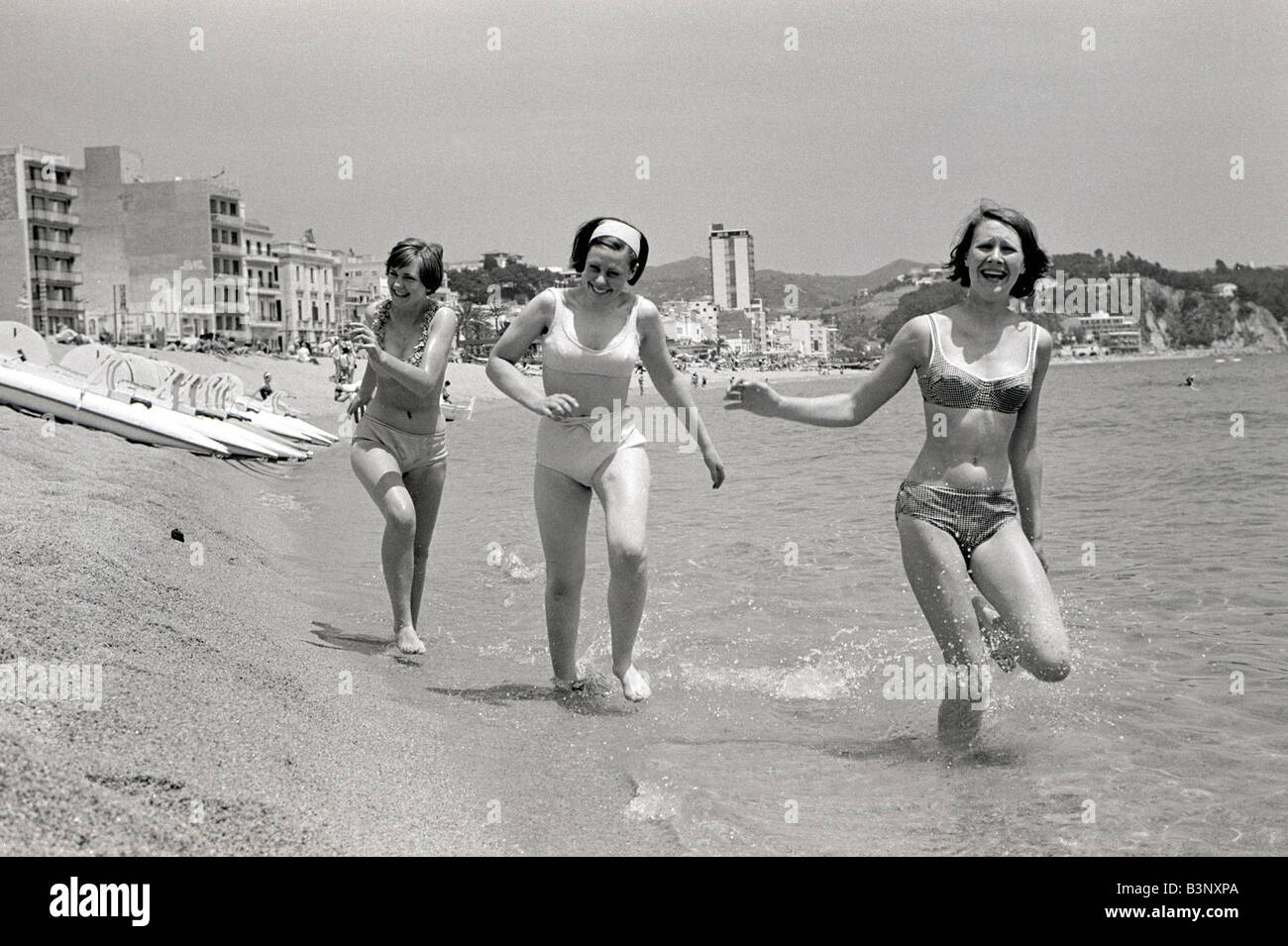 British People Abroard Holidaymakers June 1965 Local Caption friendshipimages - Stock Image