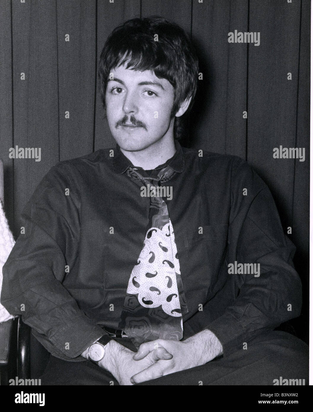 Paul McCartney Singer With The Beatles Pop Group Sporting A New Moustache February 1967