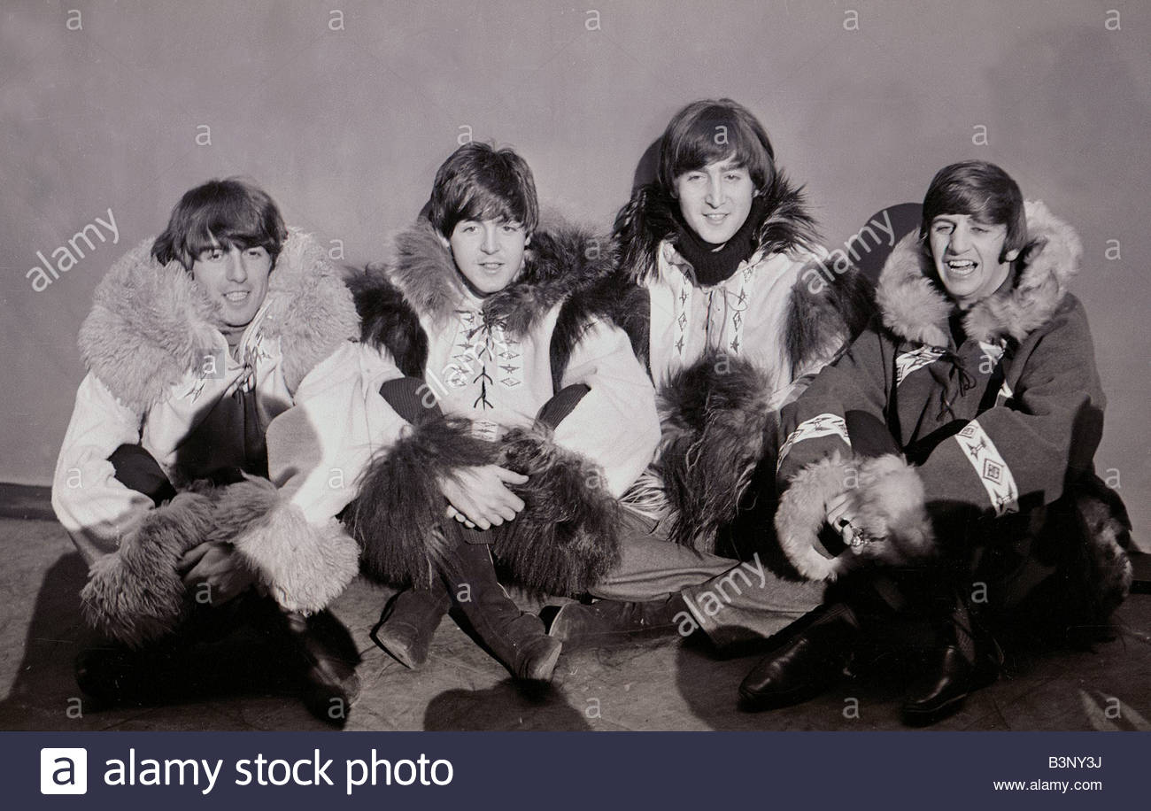 Beatles Pose Wearing Eskimo Outfits 23rd December 1964 L R George Harrison Paul McCartney John Lennon And Ringo Starr