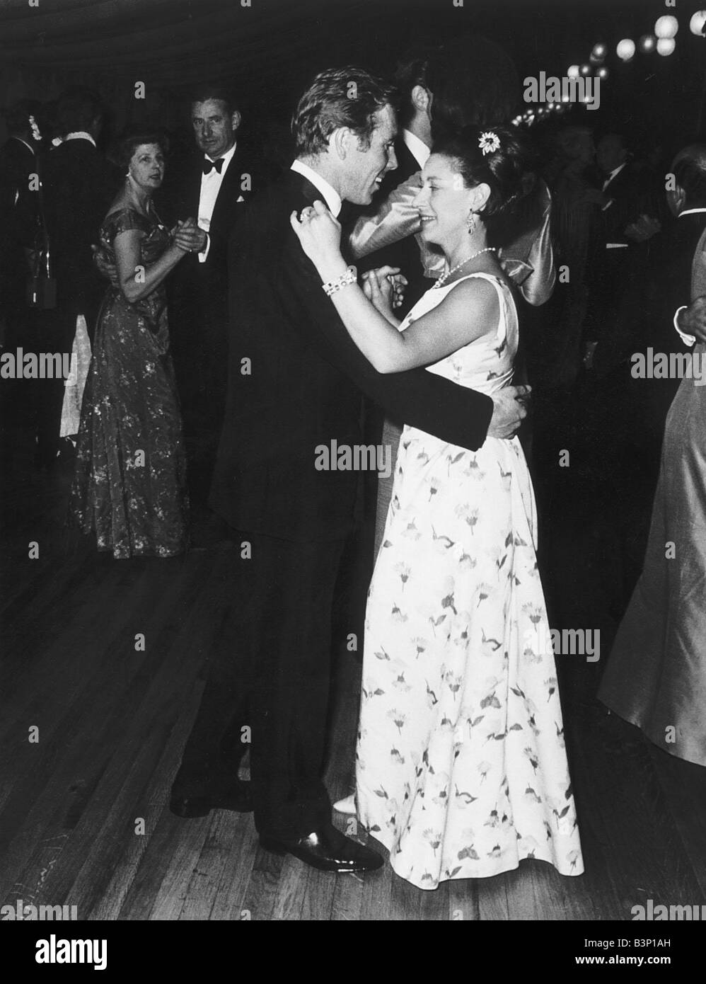 Princess Margaret And Husband Lord Snowdon Attend The First Ball