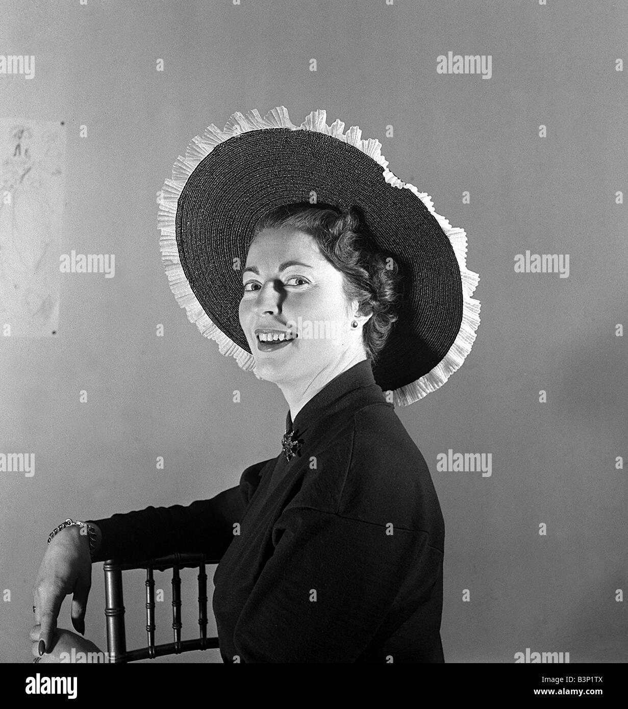 Daily Mirror Fashion editor Ailsa Garland wearing coronation hat by JeffStock Photo