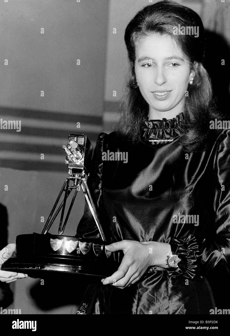 Princess Anne BBC Sports Personality of the Year winner at BBC TV Theatre Shepherds Bush - Stock Image