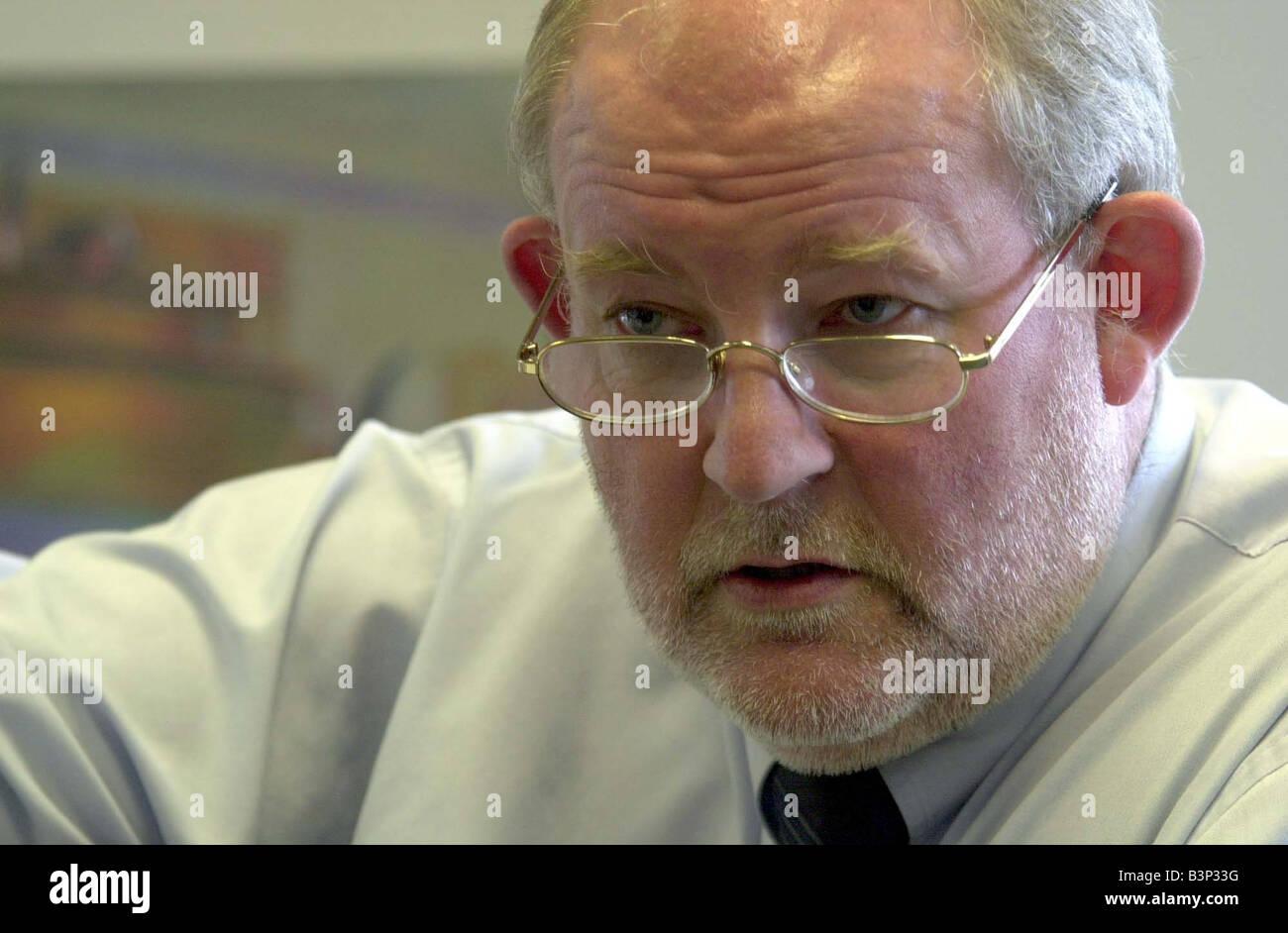 Charles Clarke MP May 2003 Education Secretary - Stock Image