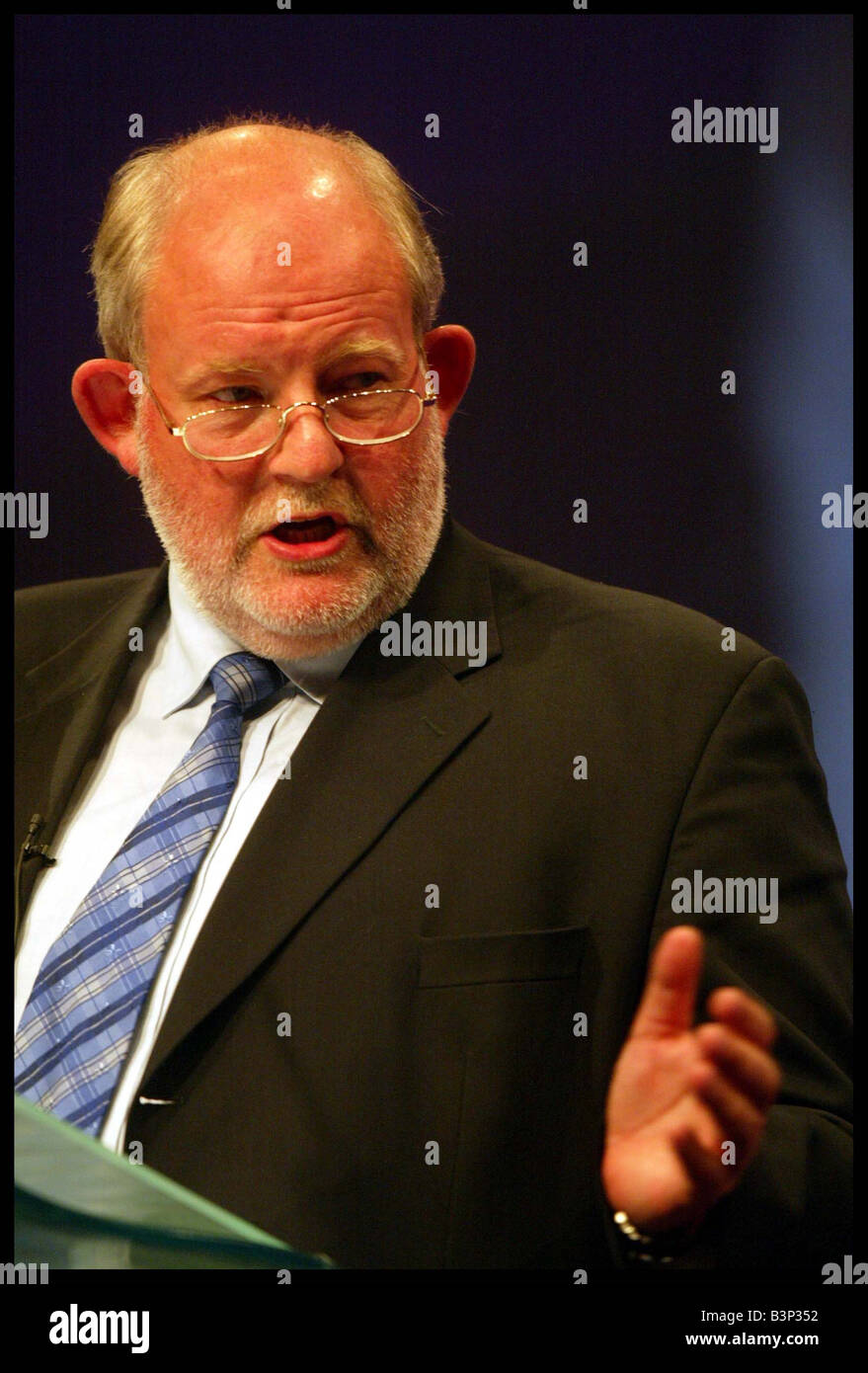 Charles Clarke MP at the Labour Party Conference in Bournemouth September 2003 - Stock Image