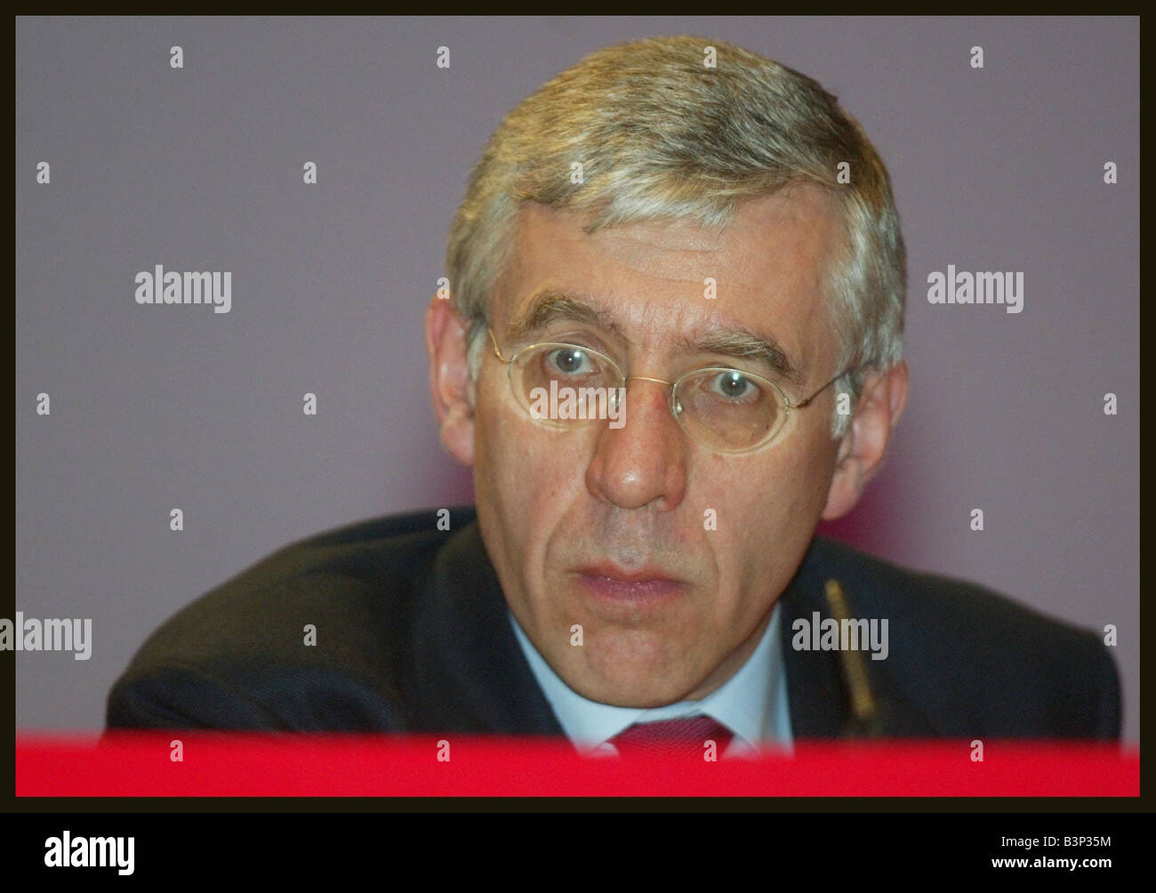 Jack Straw at the Labour Party Conference in Bournemouth October 2003 - Stock Image