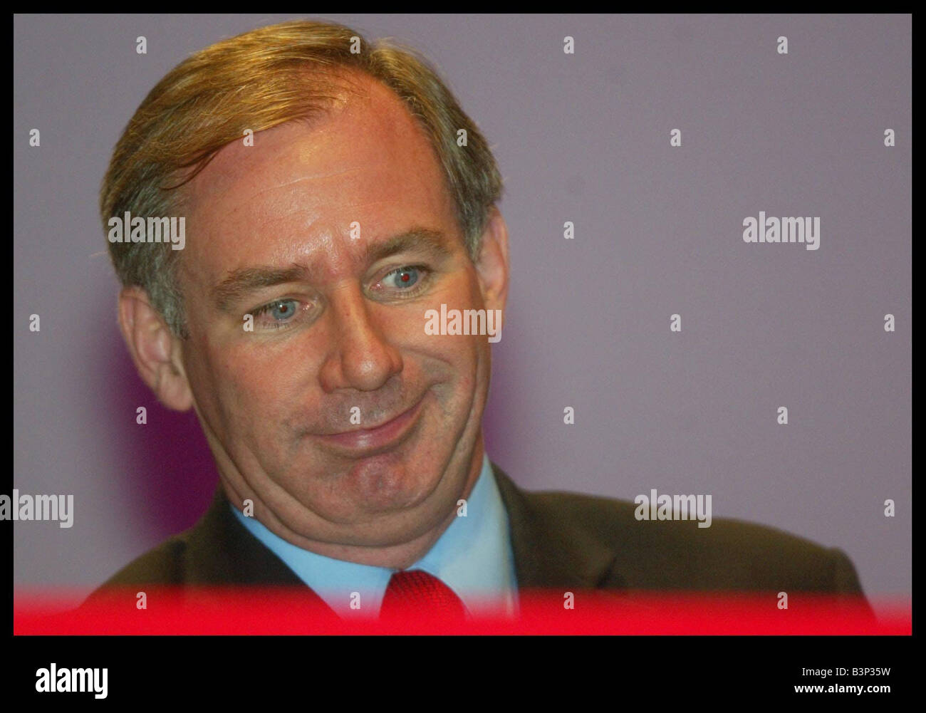 Secretary of State for Defence Geoff Hoon speech at the Labour Party Conference in Bournemouth October 2003 - Stock Image
