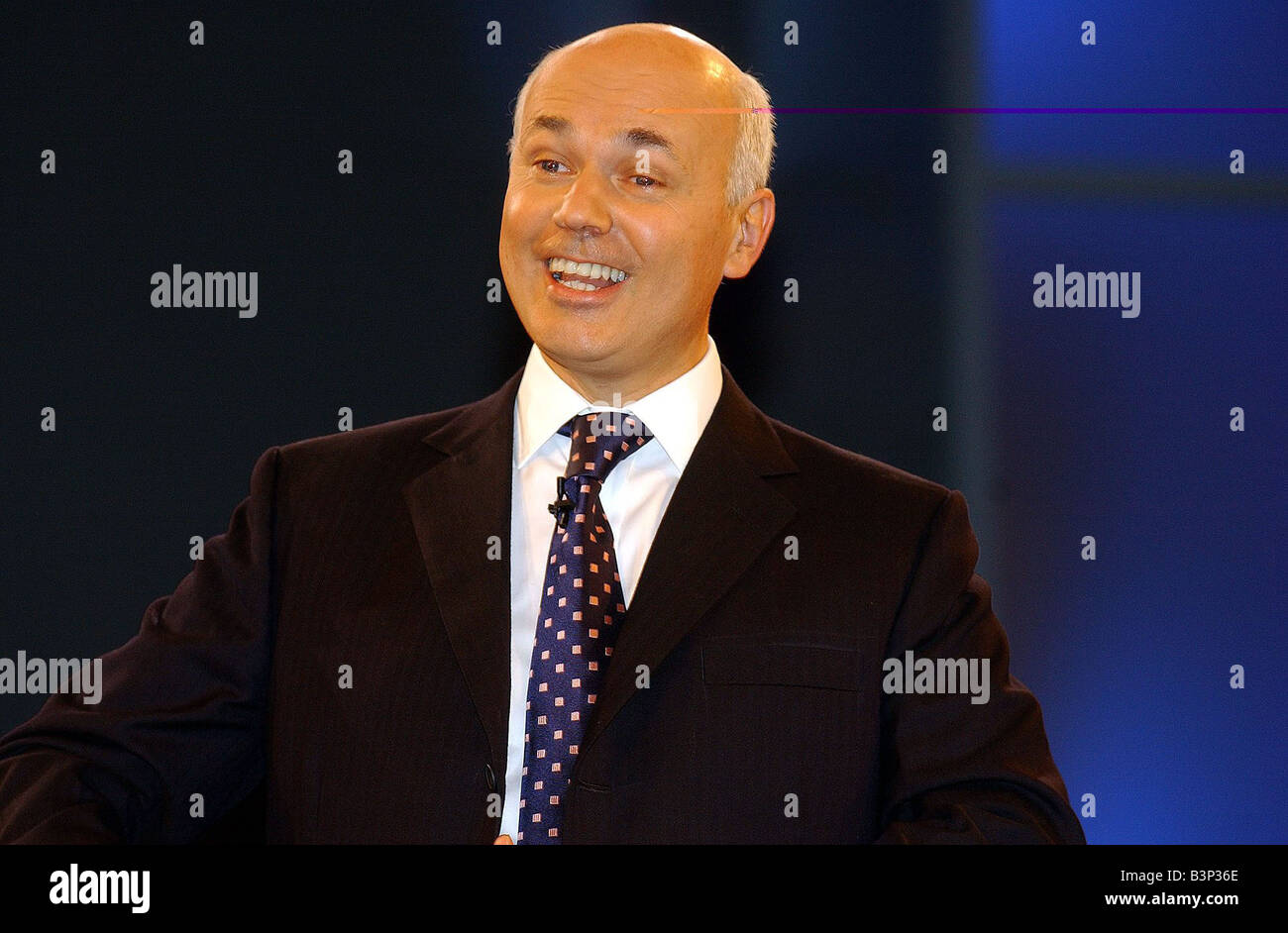 Tory Leader Iain Duncan Smith speaks at the Conservative Party Conference October 2003 - Stock Image