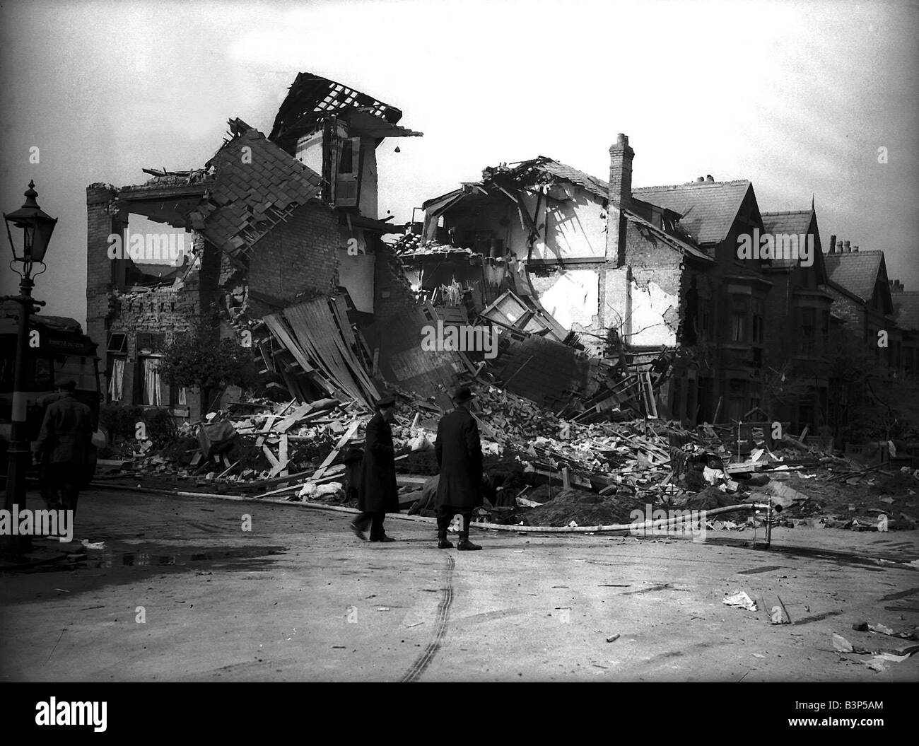 Bomb damage in Liverpool during WW2 - Stock Image