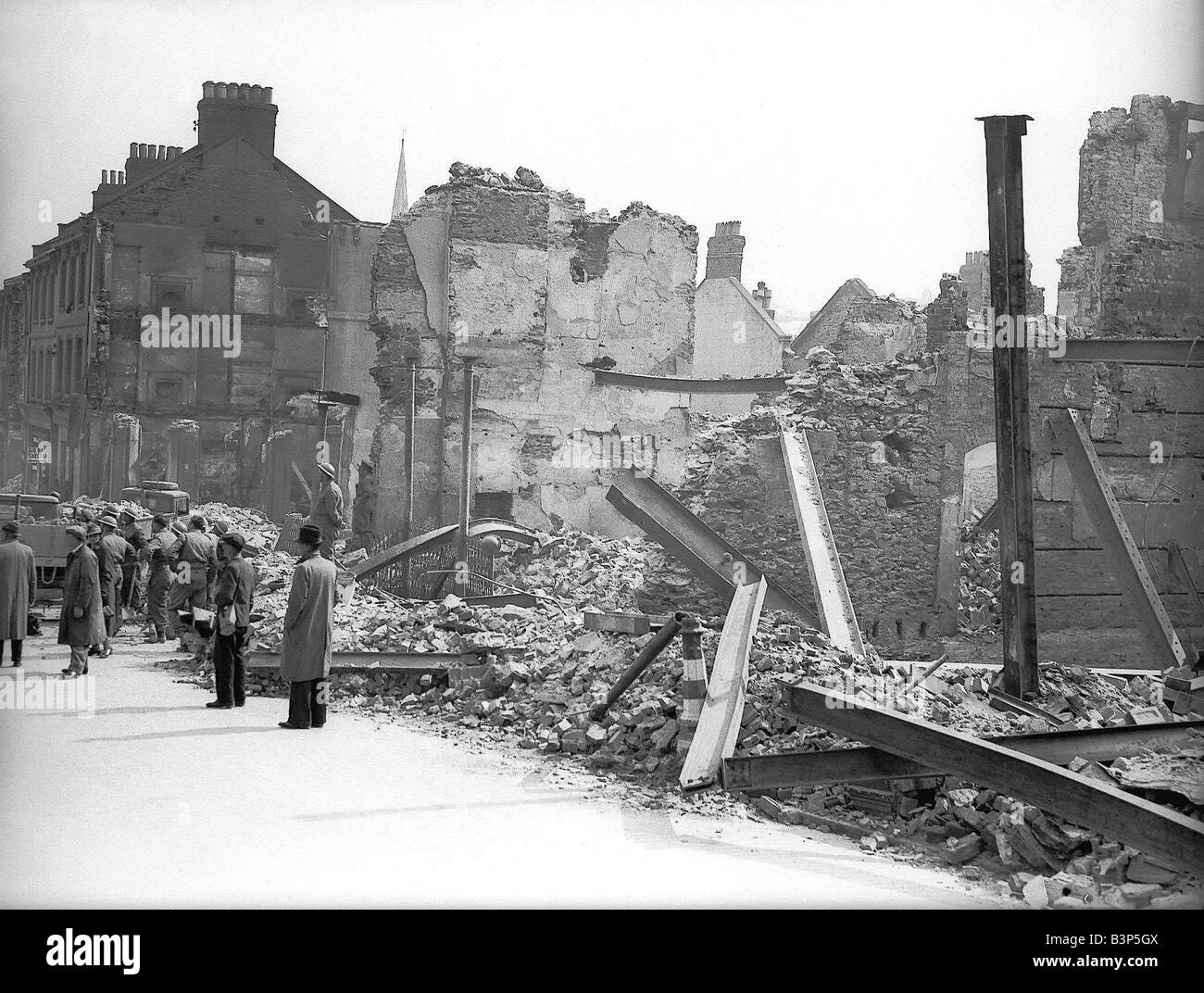 WW2 Bomb Damage Plymouth - Stock Image