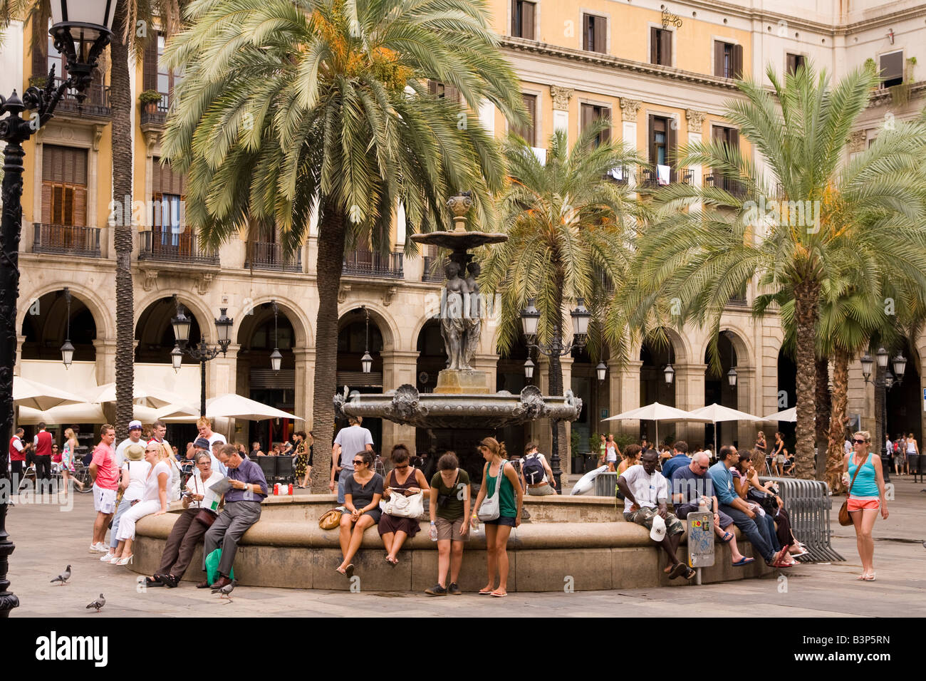Placa Real in Barcelona Spain - Stock Image