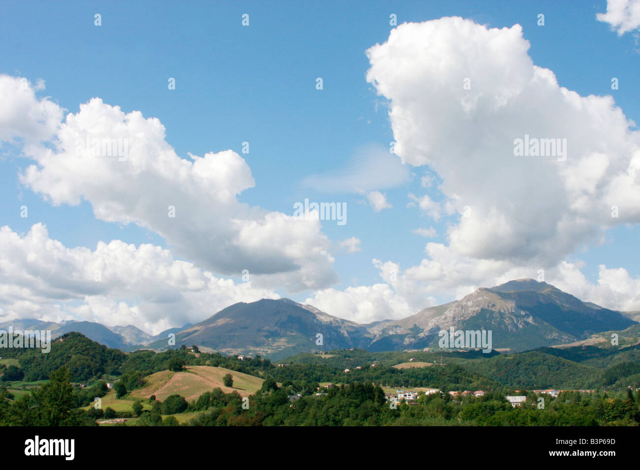 Wide skies over Le Marche in Italy Stock Photo