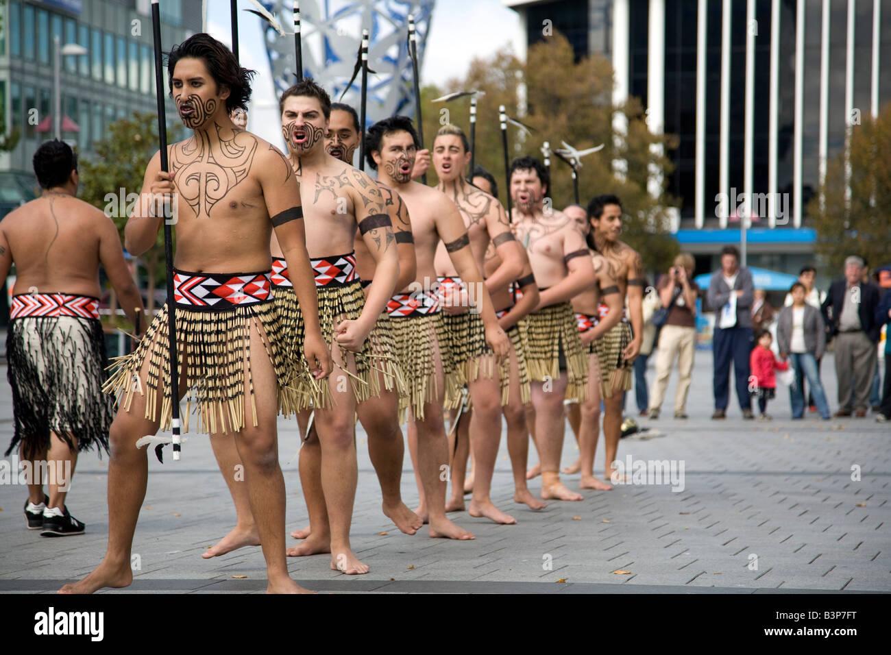 Maori Dancers: Maori Dance Group Perform In Cathedral Square