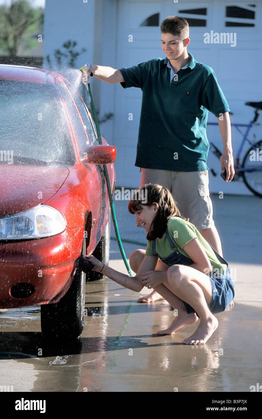 Teens washing cars — 6