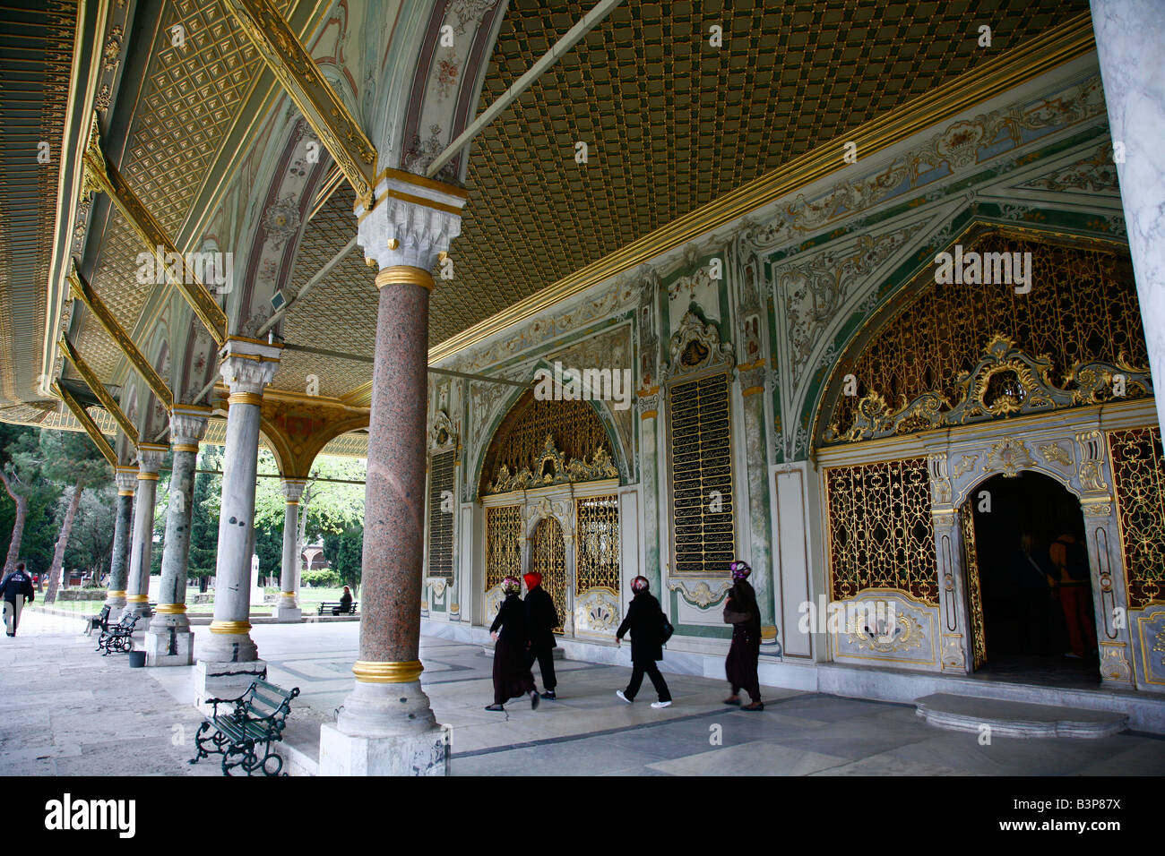 May 2008 - Topkapi Palace the Imperial Council chamber Istanbul Turkey - Stock Image