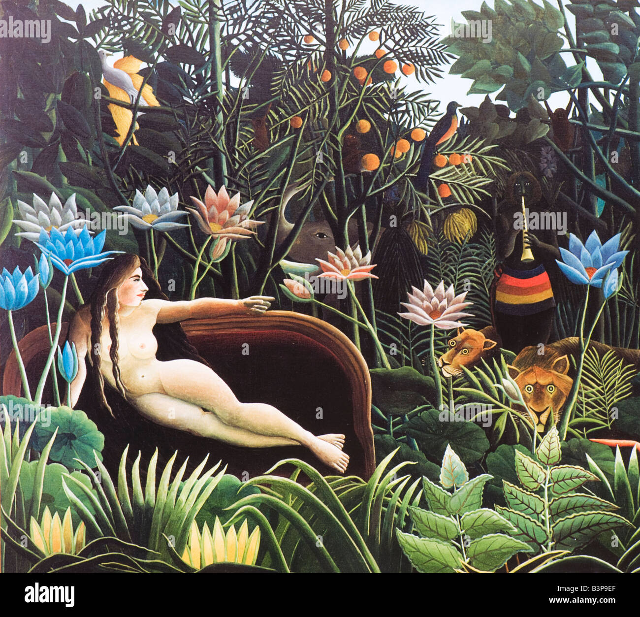 The Dream by Henri Rousseau 1910 - Stock Image