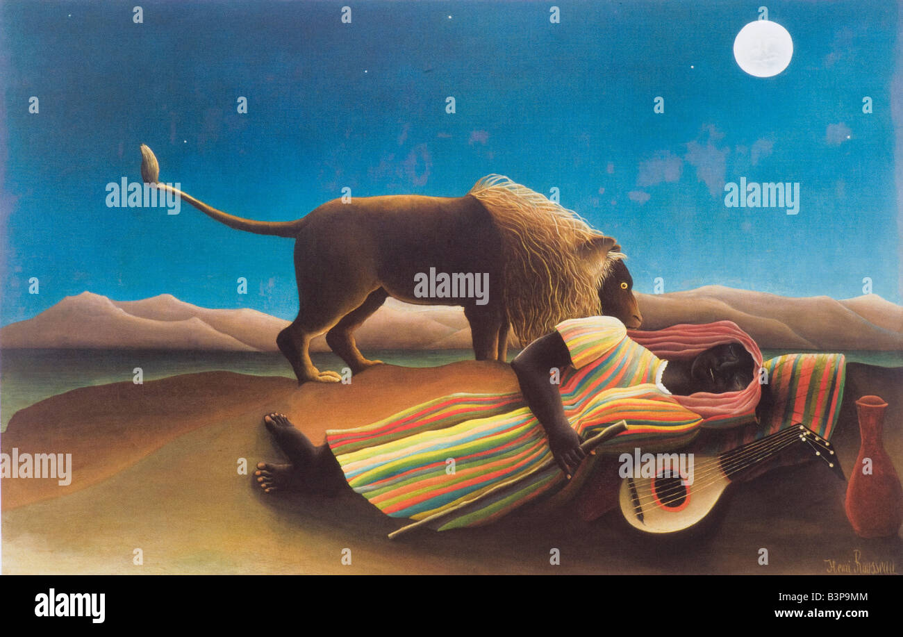 The Sleeping Gypsy by Henri Rousseau 1897 - Stock Image