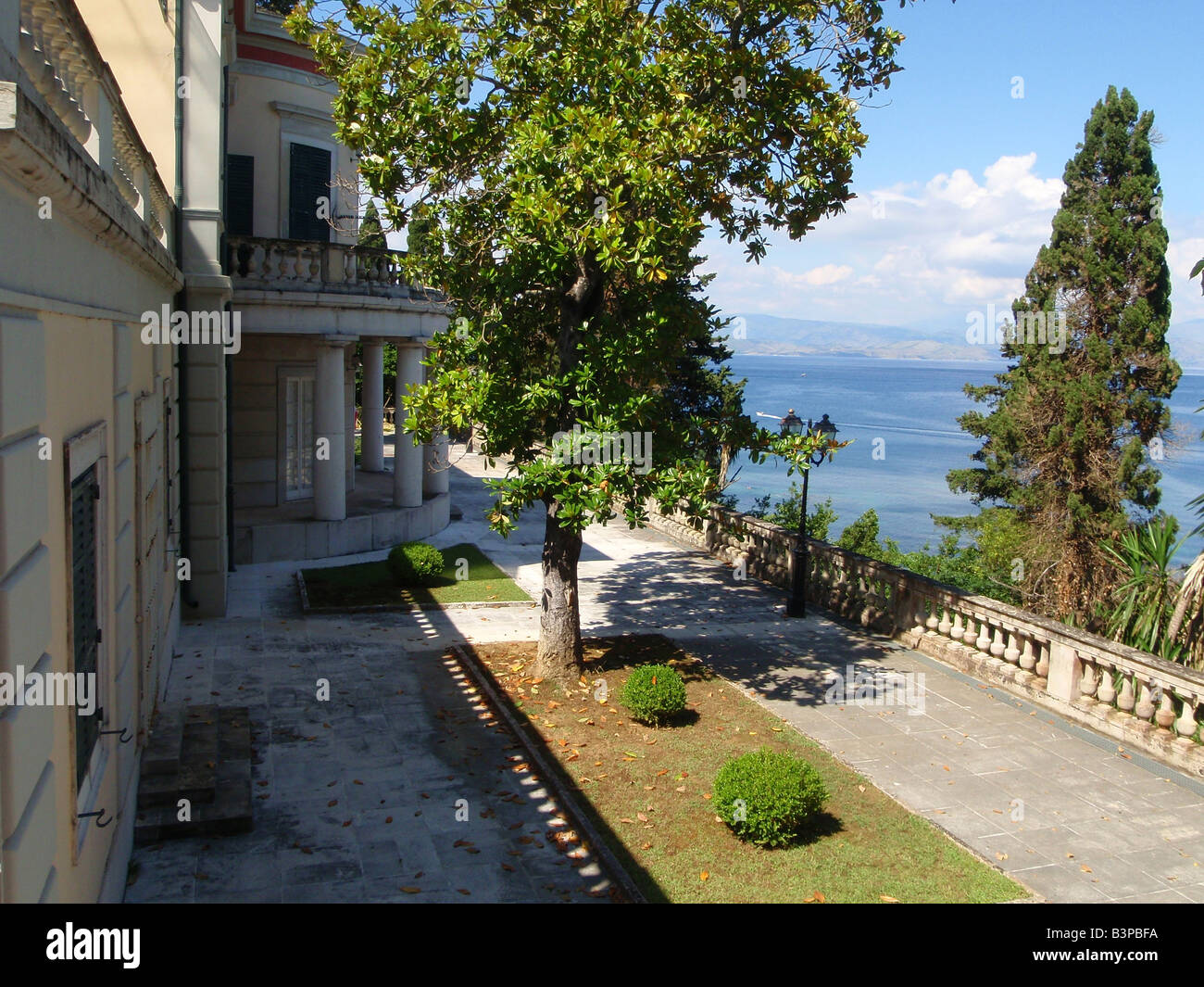 The Old Palace Building at Mon Repos, Corfu, Greece. - Stock Image