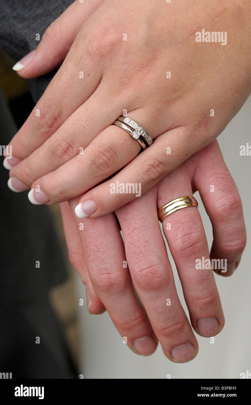 Hands Rings Wedding Couple Stock Photos & Hands Rings Wedding Couple ...