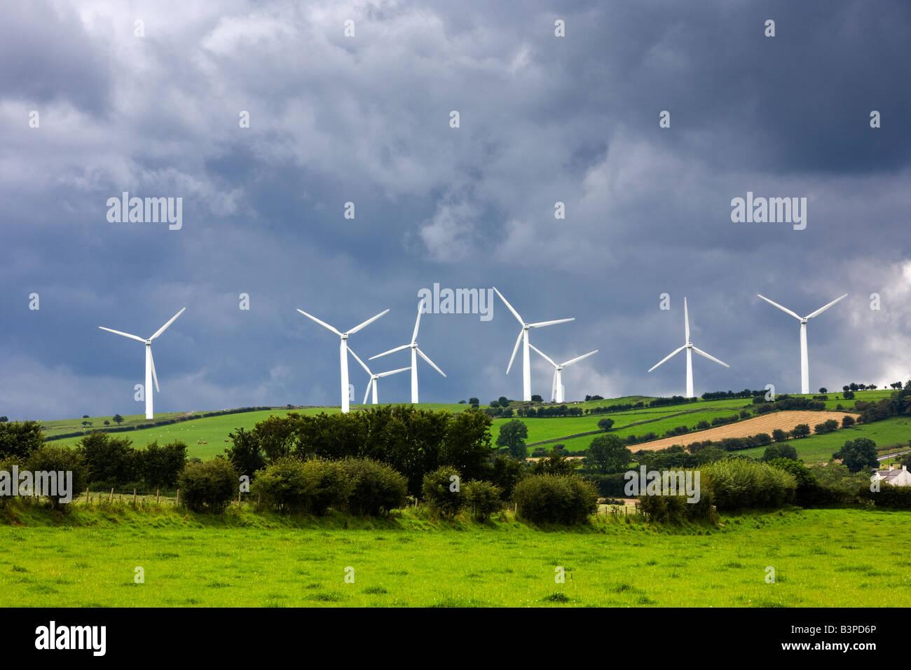 Wind turbine farm at Bothel, Lake District, Cumbria, UK - Stock Image