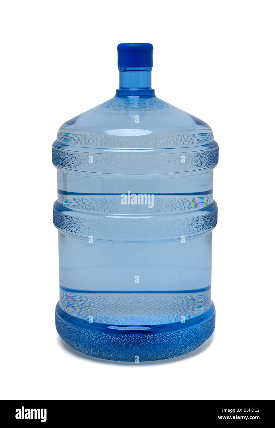 Large bottle of purified drinking water isolated on white background - Stock Image