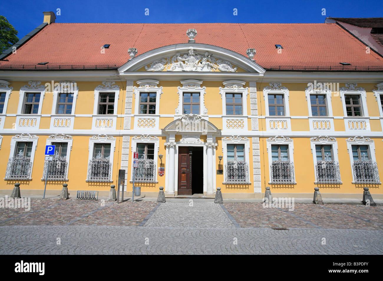 Kavalierhäuser; Kavalierhaus; Zerbst, Anhalt-Zerbst, Saxony-Anhalt, Germany Stock Photo