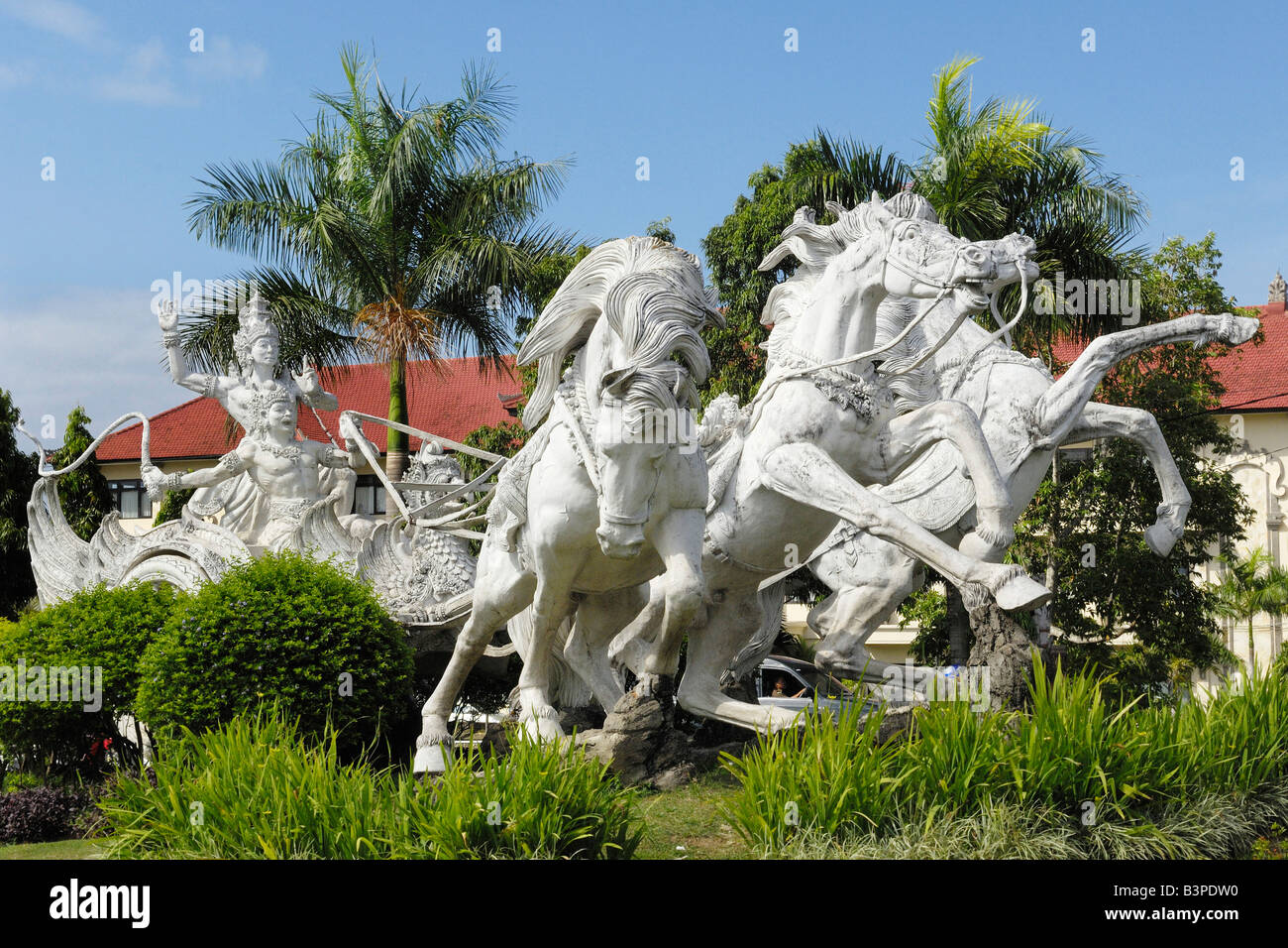 Statues from Balinese mythology in Gianyar, Bali, Indonesia - Stock Image