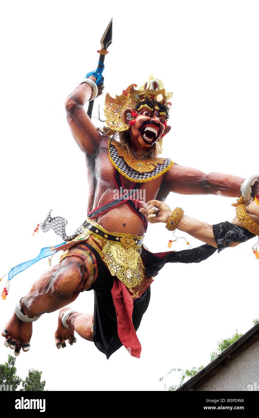 Sculpture of a wild warrior, Ubud, Bali, Indonesien - Stock Image