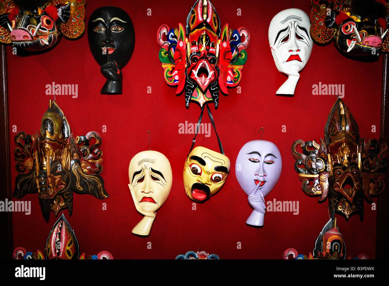 Balinese masks, Bali, Indonesia - Stock Image