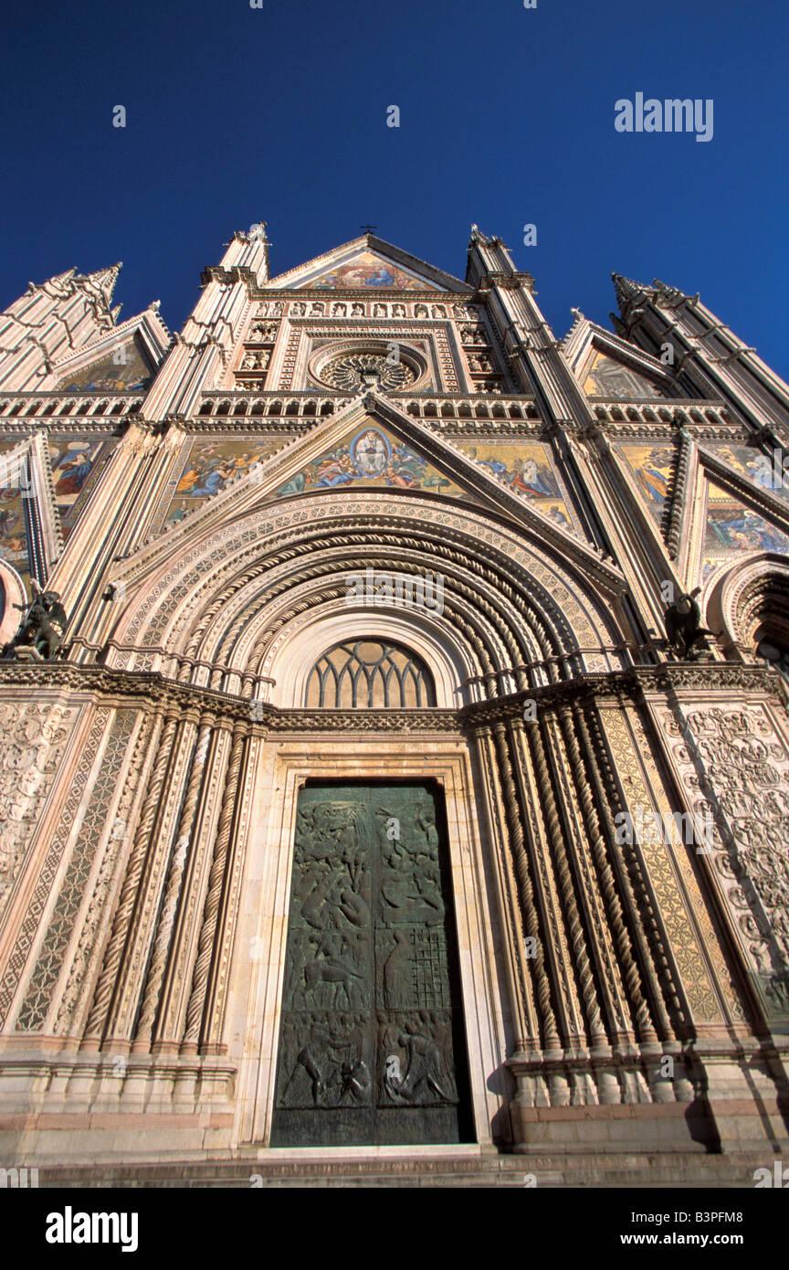 Fa�ade, Cathedral, Orvieto, Umbria, Italy - Stock Image