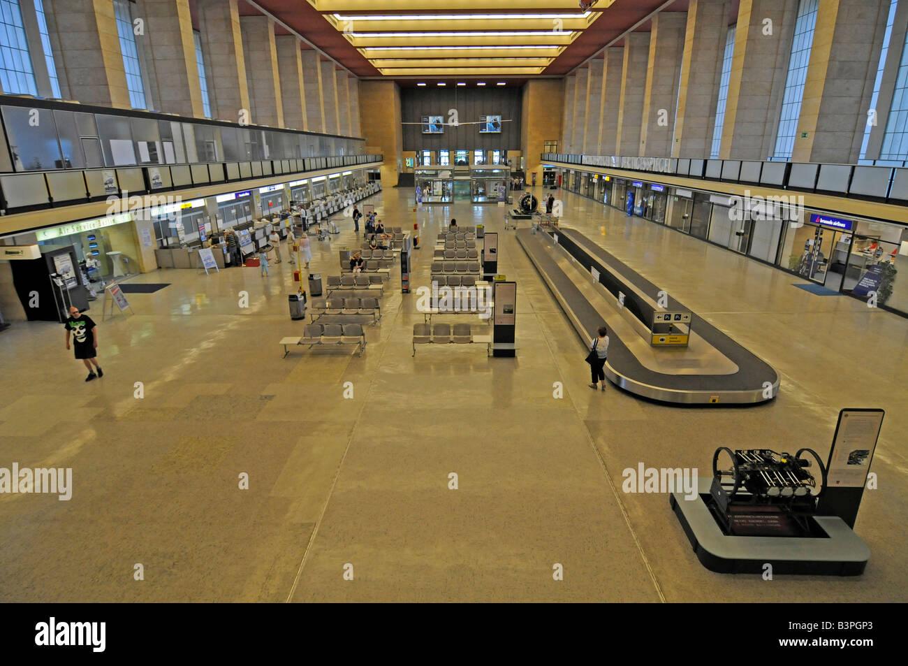 Terminal of Berlin Tempelhof Airport, Berlin, Germany, Europe - Stock Image