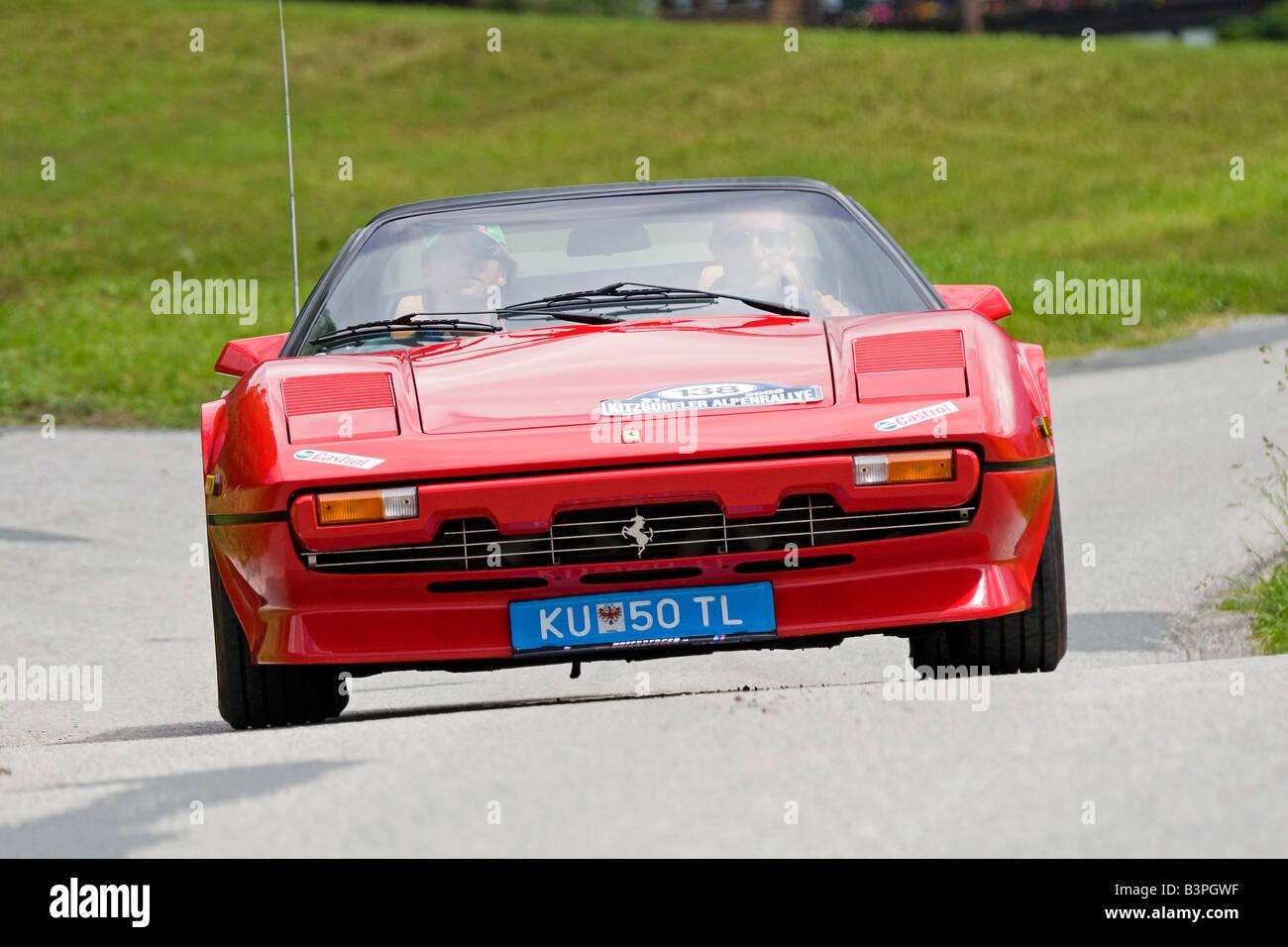 Ferrari 308 GTSI Targa, built 1981, Vintage Car Alpine Rally 2008, Kitzbuehel, Austria, Europe - Stock Image