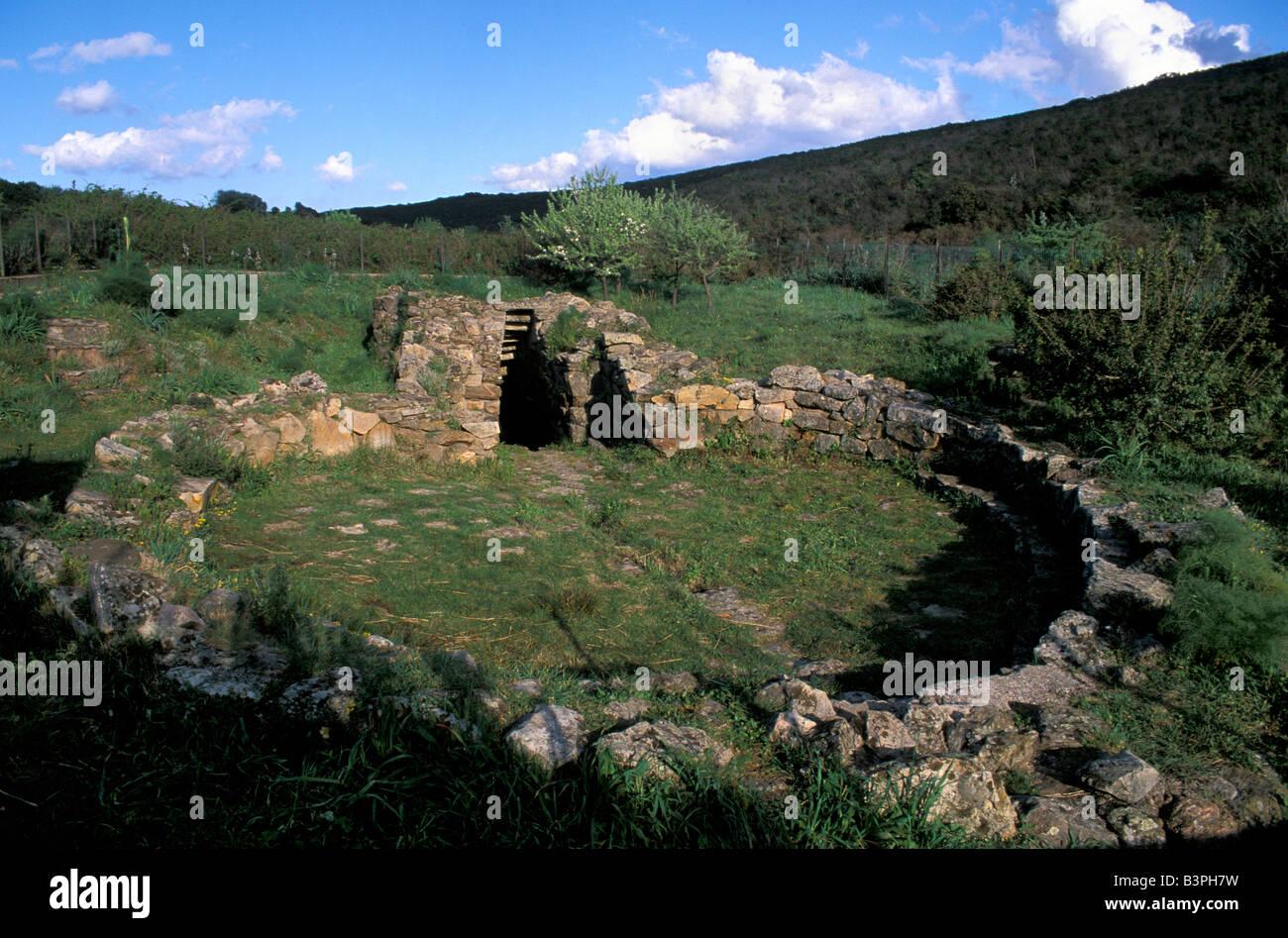 Sa Testa sacred well, Olbia, Sardinia, Italy - Stock Image