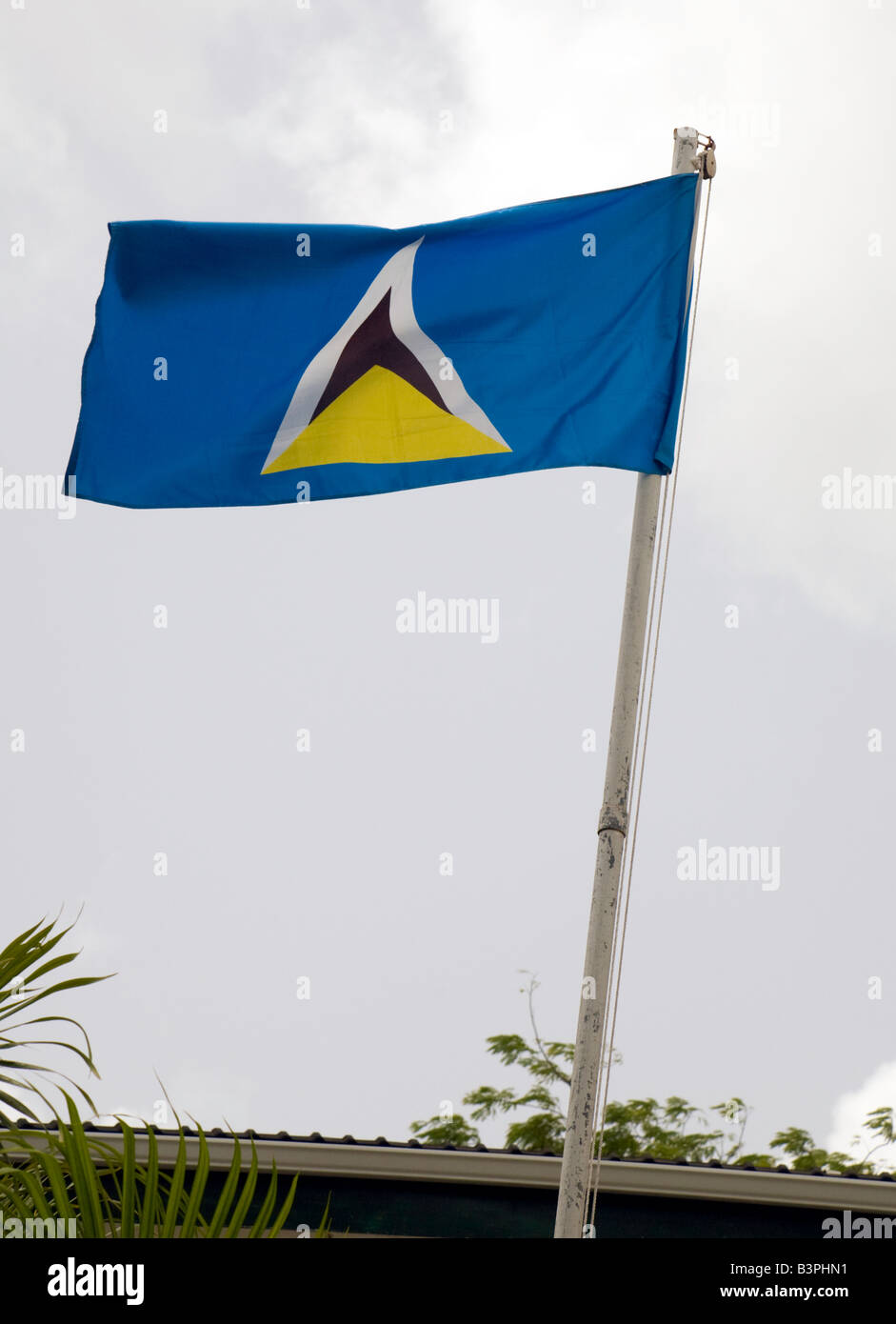The flag of St Lucia,  St Lucia, 'West Indies' - Stock Image