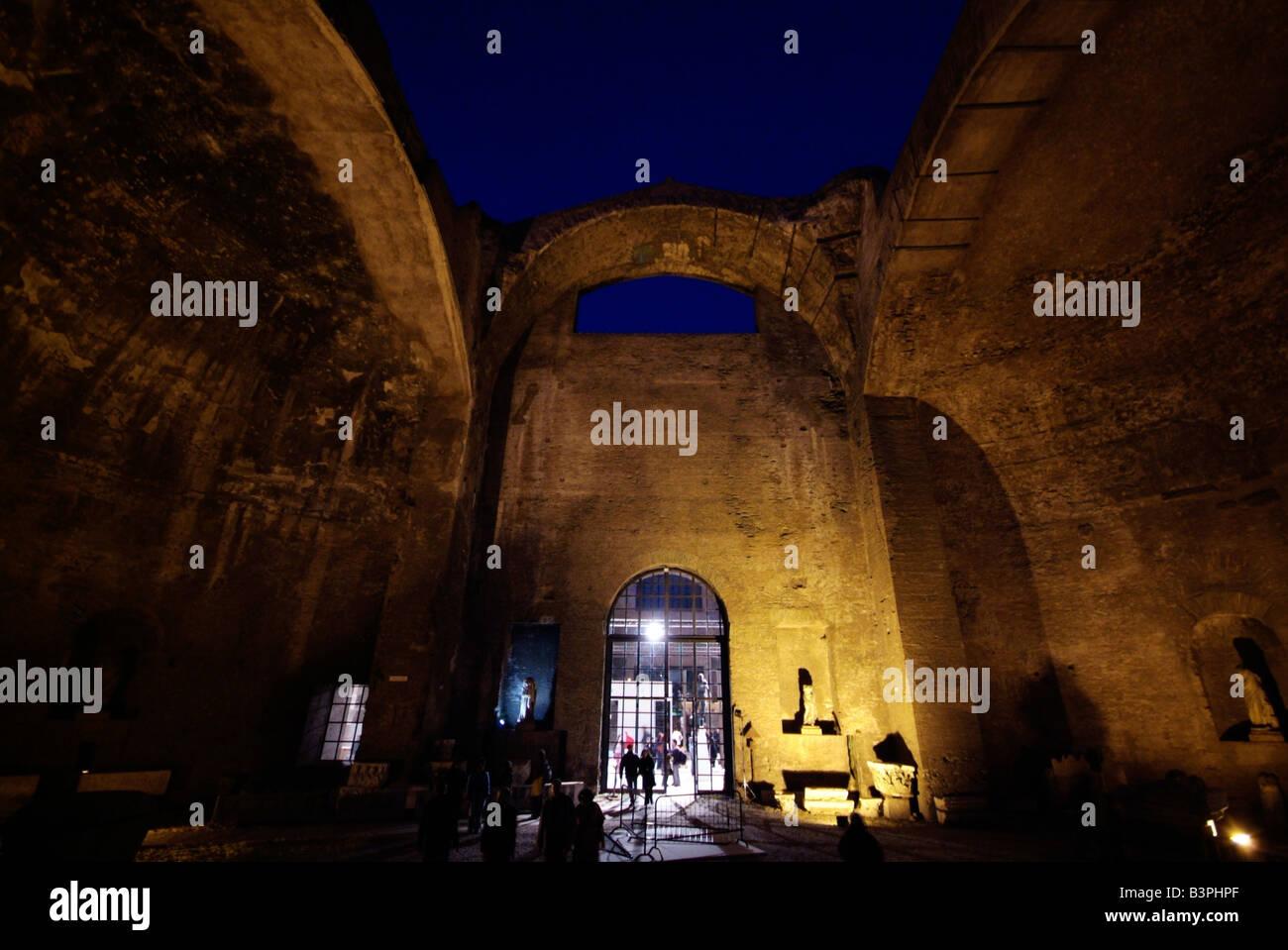 Exibition at Terme di Diocleziano edited by Achille Bonito Oliva, Roma Contemporary Art Fair, Rome, Lazio, Italy - Stock Image