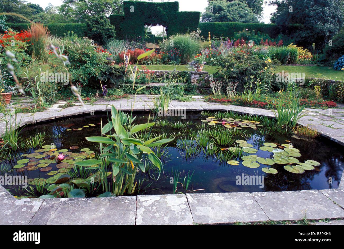 Sunk Garden, Great Dixter Gardens, Northiam, Rye, East Sussex, England, United Kingdom, Europe - Stock Image
