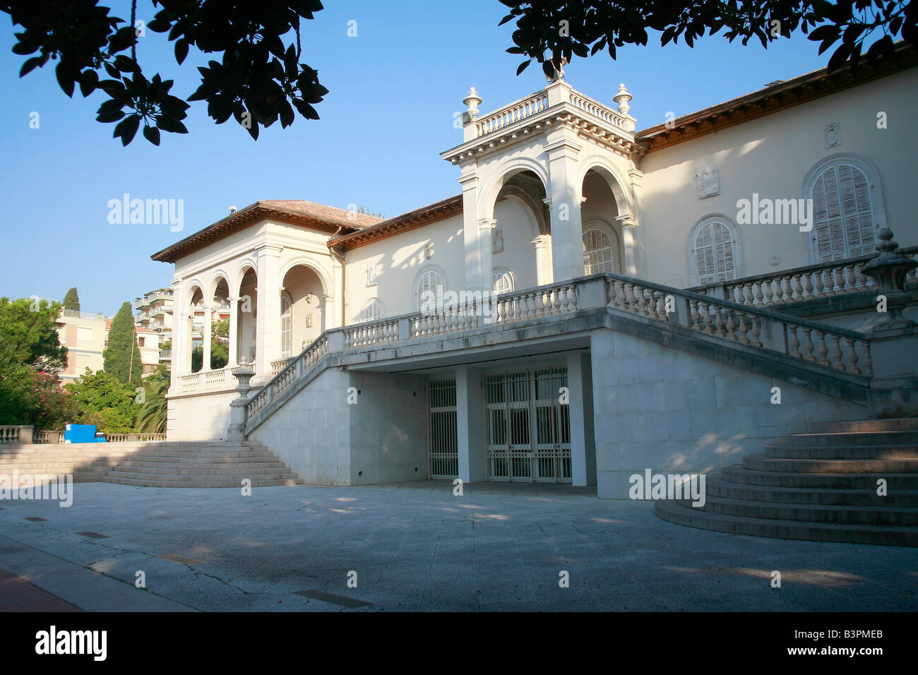 Fa�ade, Villa Ormond, Sanremo, Ligury, Italy - Stock Image