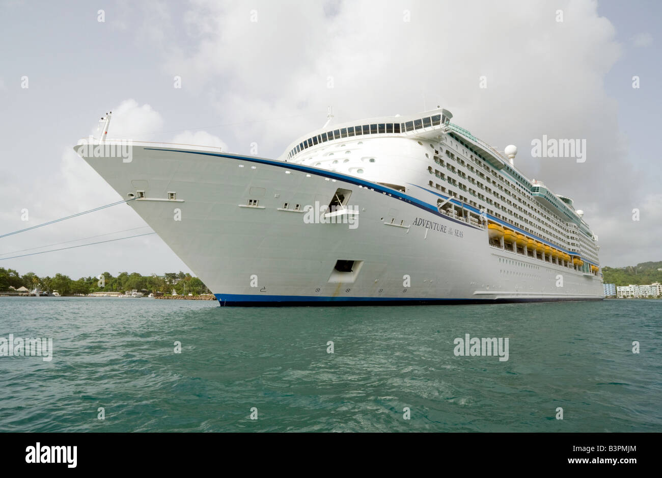 The Royal Caribbean cruise ship 'Adventure of the seas' in port , Castries St Lucia, 'West Indies' - Stock Image