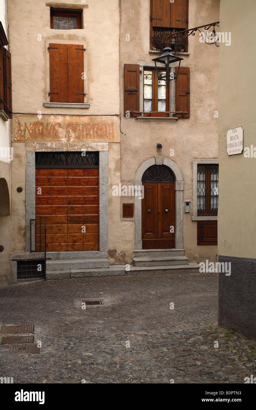 Foreshortening, Bagolino, Lombardy, Italy - Stock Image
