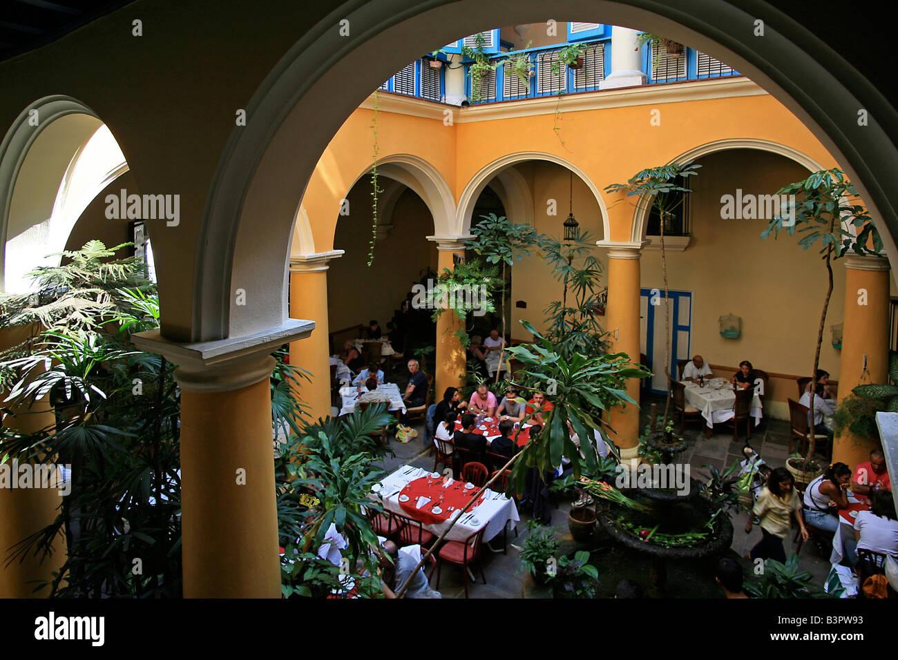 El Patio restaurant, Havana, Cuba, West Indies, Central America ...