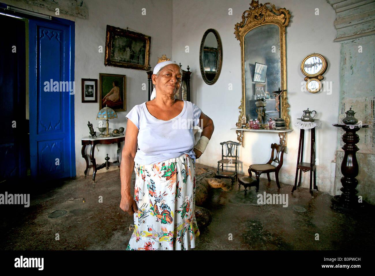 Crocodile house, Trinidad, Cuba, West Indies, Central America Stock Photo