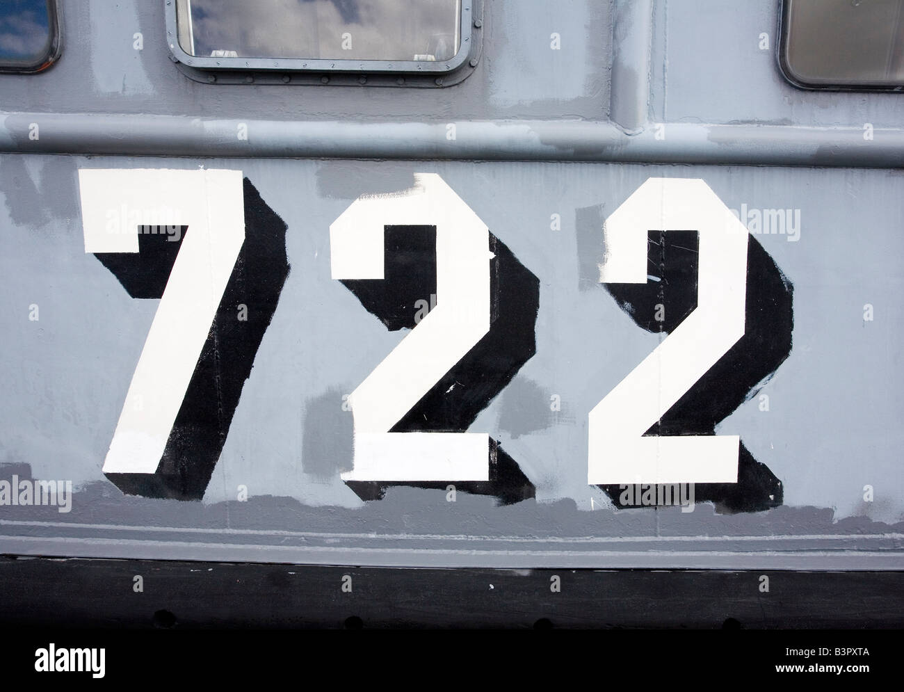 Navy ship number 722 - Stock Image
