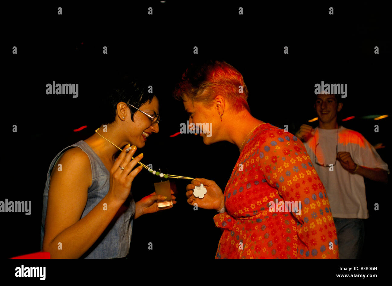 Mostar, june 1996', dancers at mostar's only disco, just opened on the croat side of town, 1996 - Stock Image