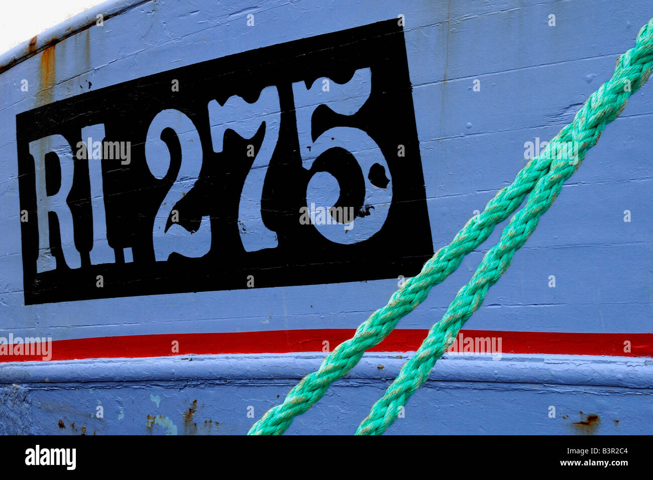 closeup of a fisherboat Nahaufnahme Fischerboot - Stock Image