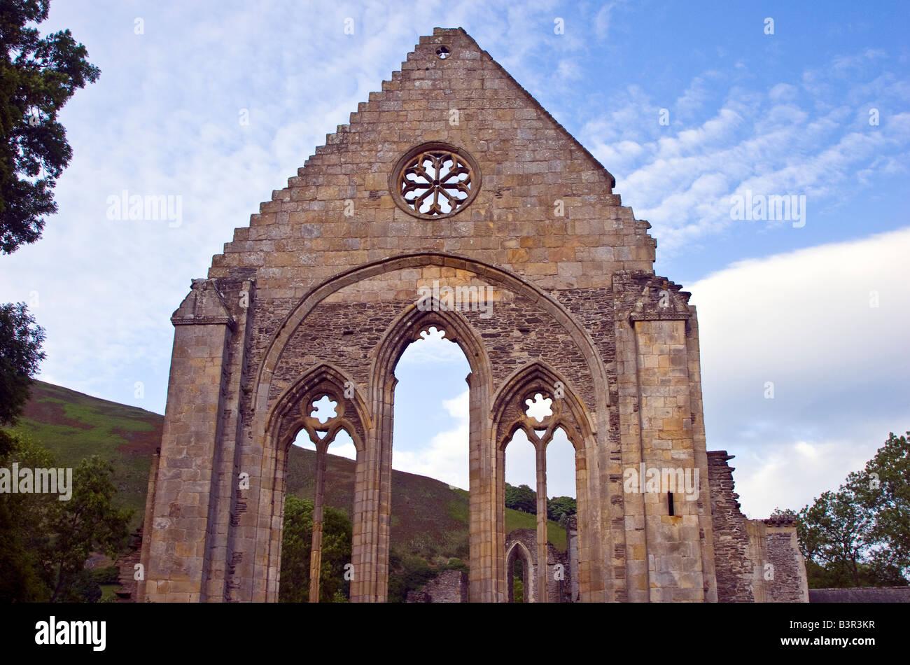 Valle Crucis a 13th century Abbey near Llangollen, Denbighshire Wales UK 2008 Stock Photo