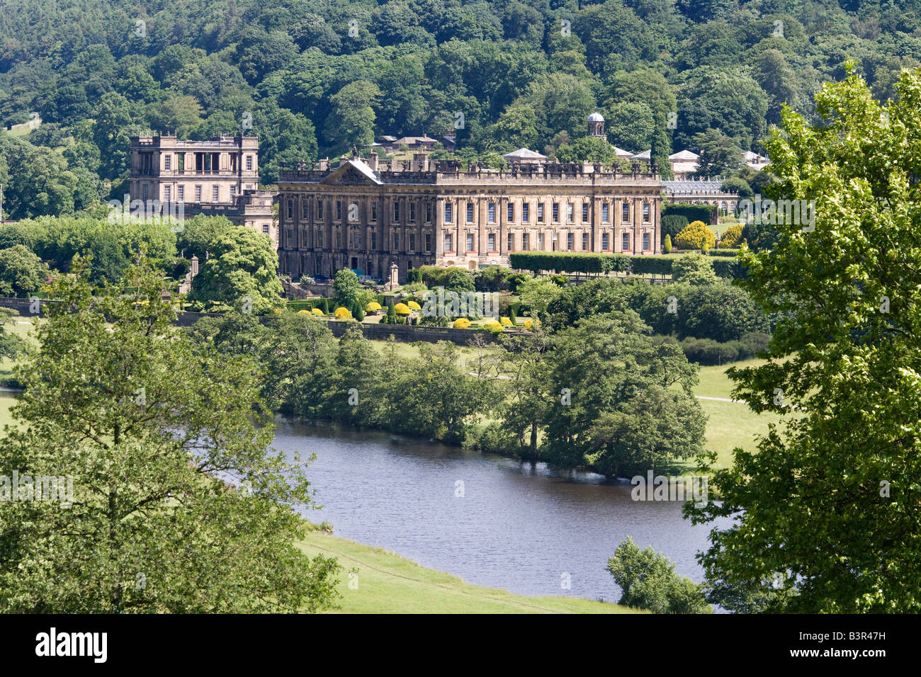 Chatsworth House, Derbyshire Duke and Duchess of Devonshire - Stock Image